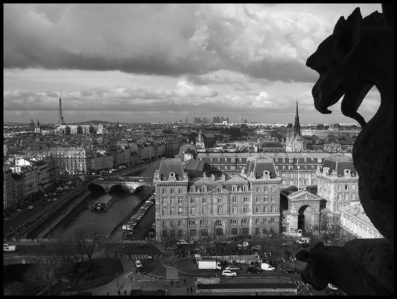 Notre Dame creepy 2 bw BLOG