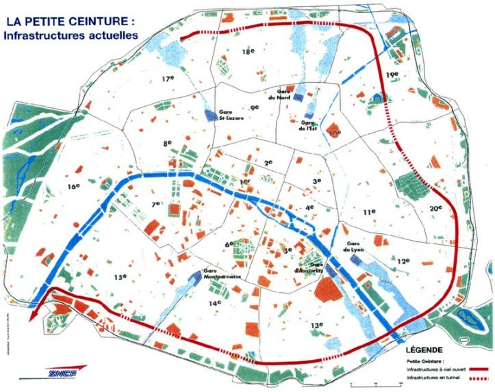 Petite Ceinture plan map