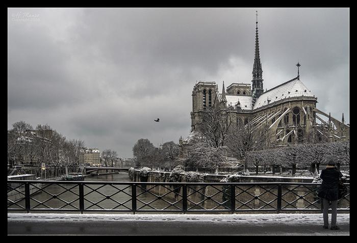 Notre Dame in snow 1180117 CL2 BLOG
