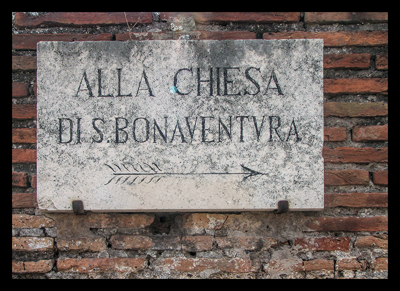 Rome ancient street sign CR CL BLOG