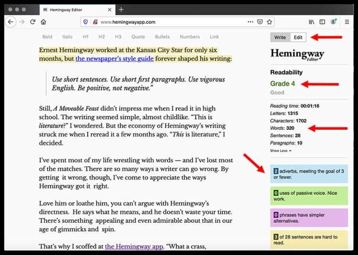 Hemingway Editor EDIT